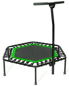 Sport-Plus Fitness Trampolin mit Bungee-Seil-System, hohes Belastungsgewicht